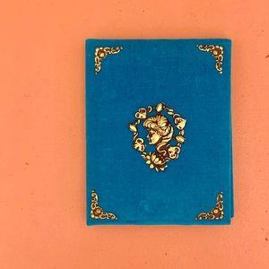 vintage velvet address book